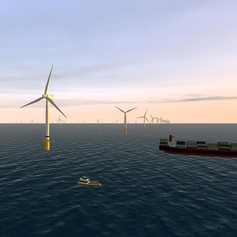 Computer generated image of Sofia Offshore Wind Farm (Feb 2019)