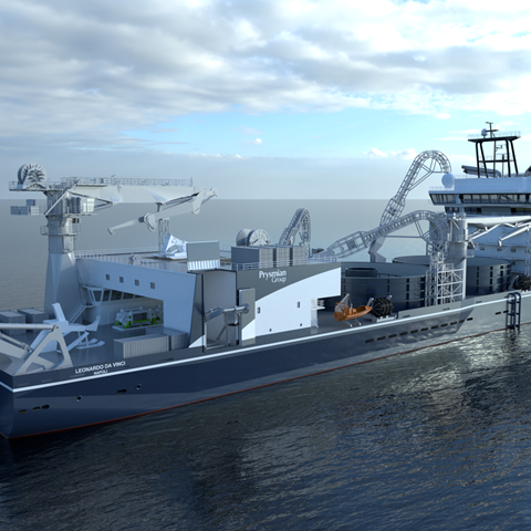 Sofia will be the first offshore wind farm to employ Prysmian's cutting-edge cable-laying vessel Leonardo da Vinci (Nov 2020)