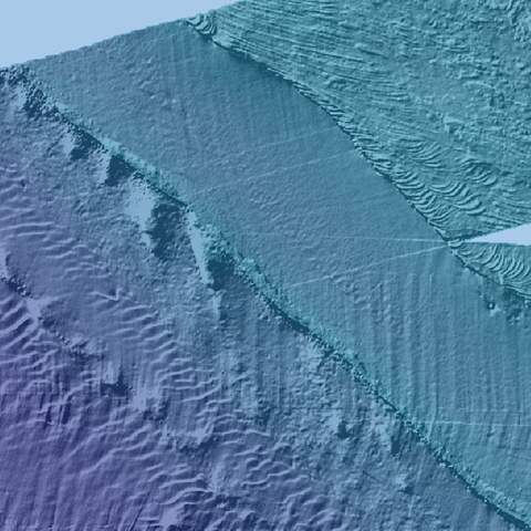 Bathymetry showing the seabed at Dogger Bank (Feb 2021)