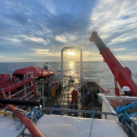 Benthic survey onboard DSV Curtis Marshall courtesy of Ocean Ecology (August 2020)