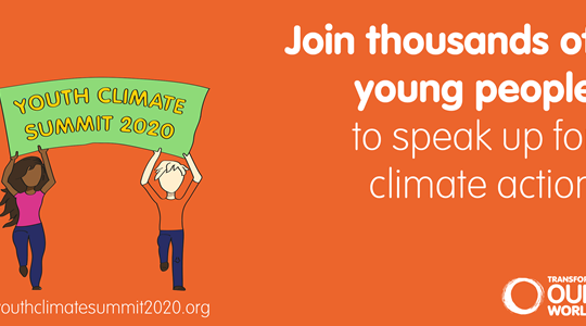 Sofia at Youth Climate Summit 2020