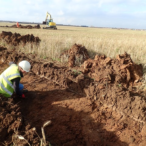 Durham Archaeology carries out trial trenching at the converter station site (Nov 2020)