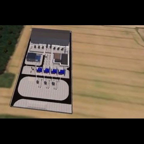 CGI fly-through of Sofia's onshore converter station (courtesy GE's Grid Solutions) (August 2020)